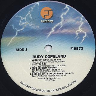 Rudy Copeland / S.T. label