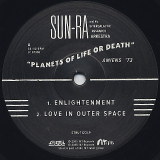 Sun Ra And Intergalactic Research Arkestra / Planets Of Life Or Death label