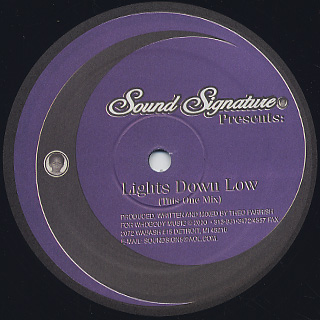 Theo Parrish / Lights Down Low back