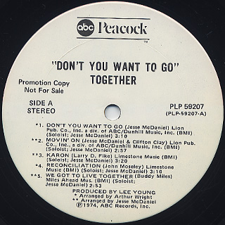 Together / Don't You Want To Go label
