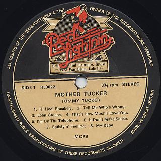 Tommy Tucker / Mother Tucker label