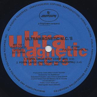 Ultramagnetic MC's / Poppa Large label