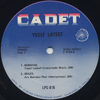 Yusef Lateef / At Cranbrook And Elsewhere label