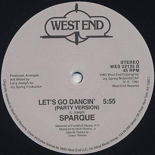 Sparque / Let's Go Dancin' back