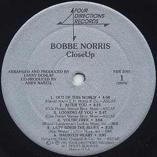 Bobbe Norris / Close Up label
