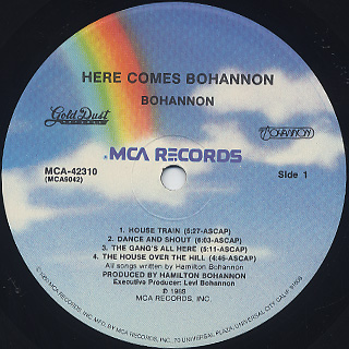 Bohannon / Here Comes Bohannon label