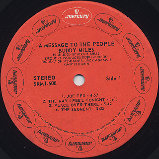 Buddy Miles / A Message To The People label