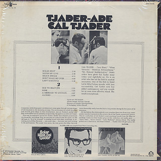 Cal Tjader / Tjader-Ade back