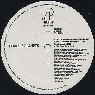 Digable Planets / Dial 7 back