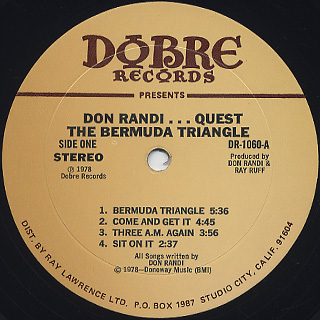 Don Randi / ...Quest...Bermuda Triangle label