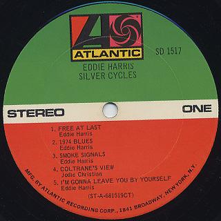 Eddie Harris / Silver Cycles label