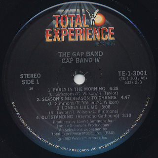 Gap Band / IV label