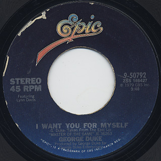 George Duke / I Want You For Myself front