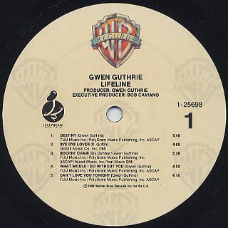Gwen Guthrie / Lifeline label