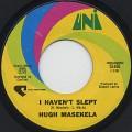 Hugh Masekela / I Haven't Slept c/w Where Has All The Grass Gone?