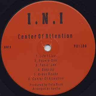INI / Center Of Attention front