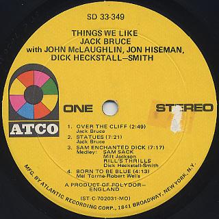 Jack Bruce / Things We Like label