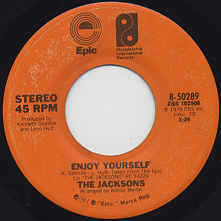 Jacksons / Enjoy Yourself c/w Style Of Life