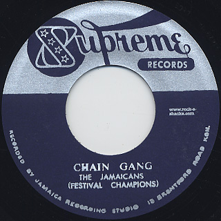 Jamaicans / Chain Gang c/w Charley Organaire / Rude Boy Charlie back