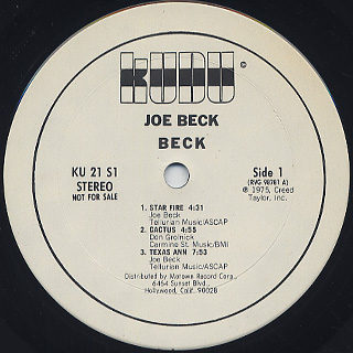 Joe Beck / Beck label