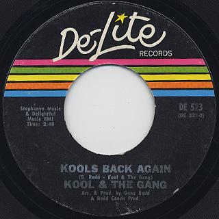 Kool And The Gang / Kools Back Again c/w The Gangs Back Again back