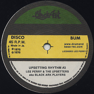 Lee Perry & The Upsetters aka Black Ark Players / MILTE HI ANKHEN aka Bird In Hand / Sam Carty / HAPPY ROOTS / UPSETTING RHYTHM #2 label