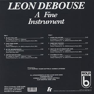 Leon Debouse / A Fine Instrument back