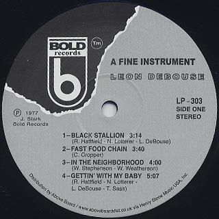 Leon Debouse / A Fine Instrument label