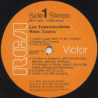 Los Espectaculares / Hnos. Castro label