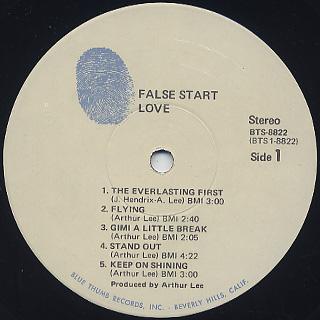 Love / False Start label