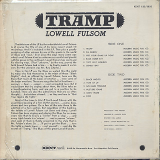 Lowell Fulsom / Tramp back