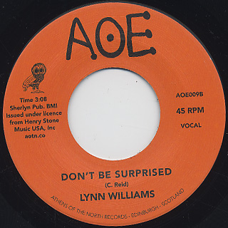 Lynn Williams / It Takes Two c/w Don't Be Surprised back
