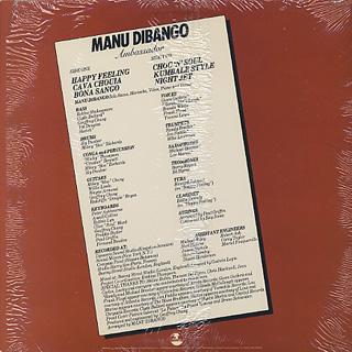 Manu Dibango / Ambassador back