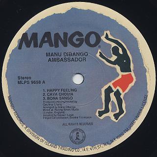 Manu Dibango / Ambassador label