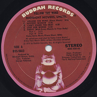 Midnight Movers, Unltd. / Follow The Wind label
