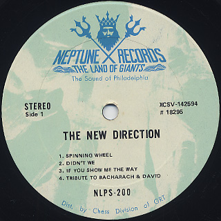New Direction / S.T. label