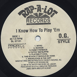 O.G. Style / I Know How To Play 'Em! label