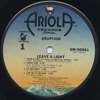 Precious Wilson & Eruption / Leave A Light label