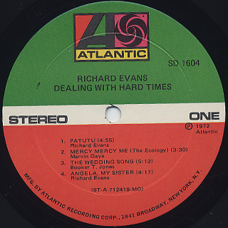 Richard Evans / Dealing With Hard Times label