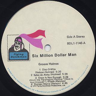 Richard Groove Holmes / Six Million Dollar Man label