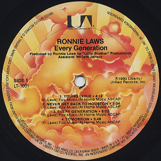 Ronnie Laws / Every Generation label