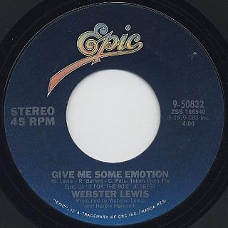 Webster Lewis / Give Me Some Emotion back