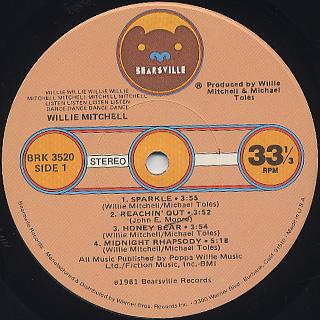Willie Mitchell / Willie...Mitchell...Listen...Dance label