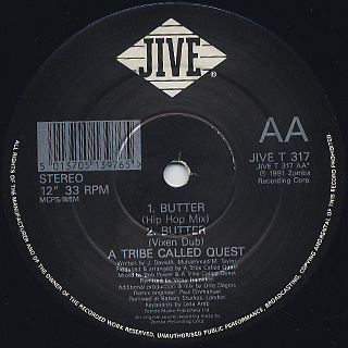A Tribe Called Quest / Luck Of Lucien (UK Remix) label