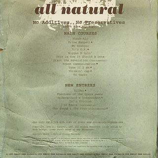 All Natural / No Additives, No Preservatives (Xtra Phat) back