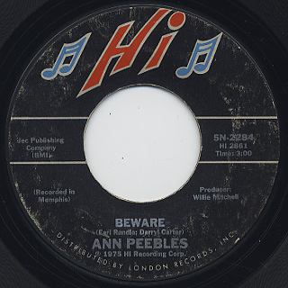Ann Peebles / Beware c/w You Got To Feed The Fire front