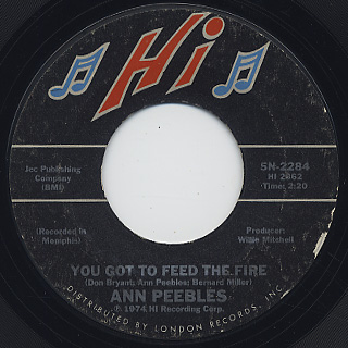 Ann Peebles / Beware c/w You Got To Feed The Fire back