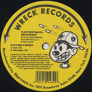 Black Moon / Headz Aint Redee c/w Black Smif-N-Wessun back