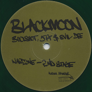 Black Moon / Warzone (2nd Stage) label