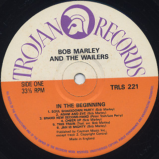 Bob Marley And The Wailers / In The Beginning label